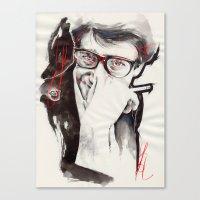 ysl Canvas Prints featuring YSL by Mitja Bokun