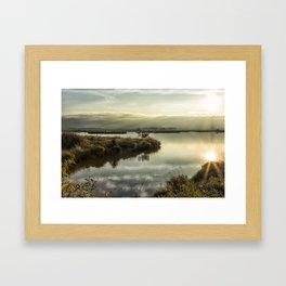 Rays Over Fern Ridge Framed Art Print