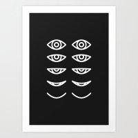Eyes in Motion Art Print