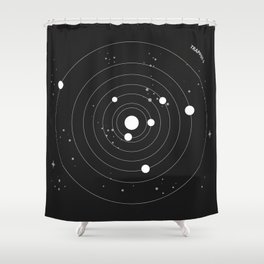 Trappist 1 Shower Curtain