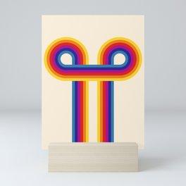 Retro rainbow shapes no2 Mini Art Print