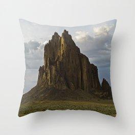 Shiprock, New Mexico. Throw Pillow