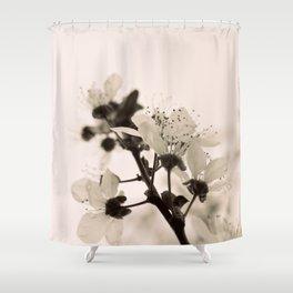 Blossoms Monochrome Shower Curtain