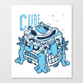 Cube totem Canvas Print