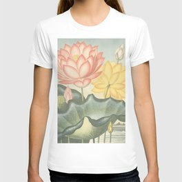 Pastel Flowers : The Sacred Egyptian Bean: New Illustration Of The Sexual System T-shirt