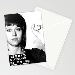 Jane Fonda Mugshot Stationery Cards