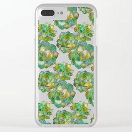 Rosette Succulents – Green Palette Clear iPhone Case