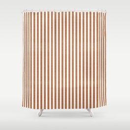 COPPER DENIM CHAMBRAY STRIPES Shower Curtain