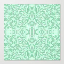 Radiate (Celadon) Canvas Print