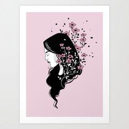 Flower Head Art Print
