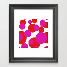 Pink and Red dots  Framed Art Print