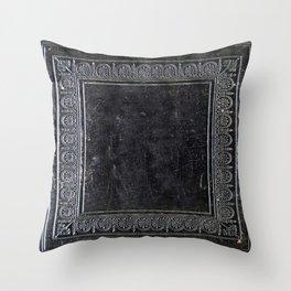 Black Antique Book Throw Pillow