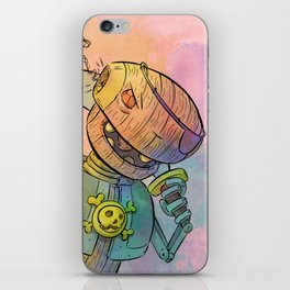 Robot Pirate iPhone Skin
