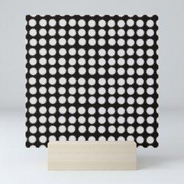 Milk Glass Polka Dots Black And White Mini Art Print