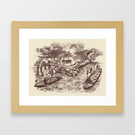 Battle of the Ironclads II Framed Art Print