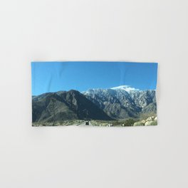Mountain Snow in Palm Springs California Hand & Bath Towel