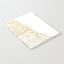 CHICAGO ILLINOIS CITY STREET MAP ART Notebook