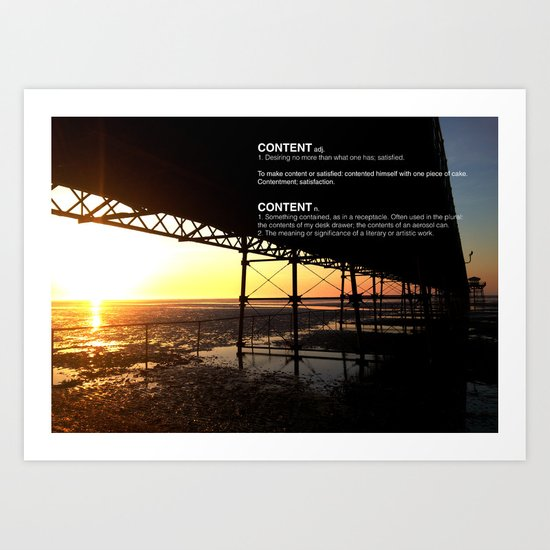 SUNSET WITH CONTENT Art Print
