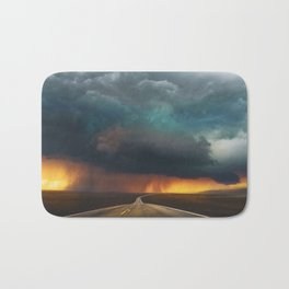 Riders on the Storm (Route 66) - The Loneliest Road in America Bath Mat