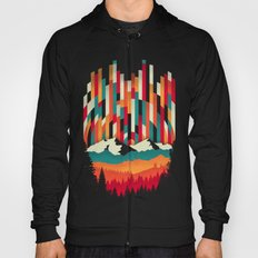 Sunset in Vertical Multicolor Hoody