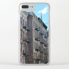 East Village Apartments Clear iPhone Case