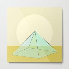Pyramid Sunrise II Metal Print