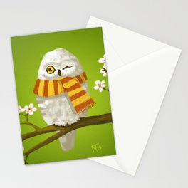 Spring Owl Stationery Cards