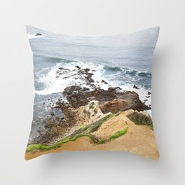 The Pacific Coast Along PVE, CA Throw Pillow
