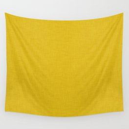 Plain yellow fabric texture Wall Tapestry