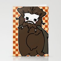 nori Stationery Cards featuring Dwarpacas(Nori) by Lady Cibia