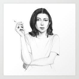 Joan Didion Art Print