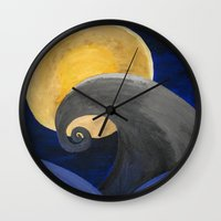 nightmare Wall Clocks featuring Nightmare by Shelly Lukas Art