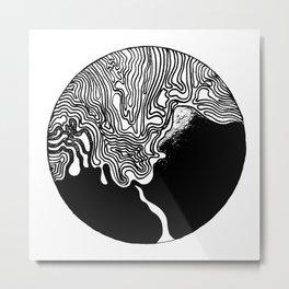 Black Ink Lines 10 Metal Print