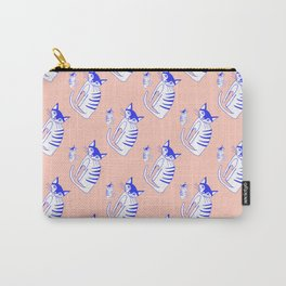 Neon cat in peach Carry-All Pouch