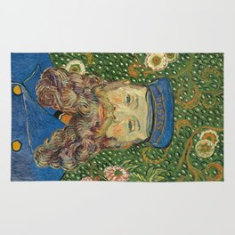 Portrait of the Postman Joseph Roulin by Vincent van Gogh Rug