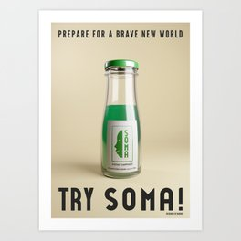 Try Soma ! - advertisement poster Art Print