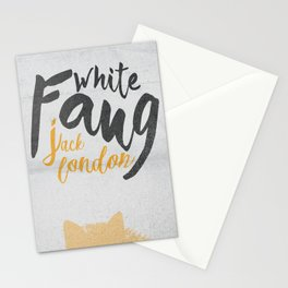 White Fang, Jack London book cover, poster, old classic, penguin book Stationery Cards