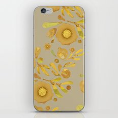 Granada Floral in Henna on brown iPhone & iPod Skin
