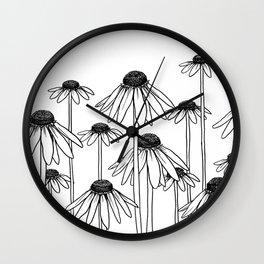 Daisy Doodle Wall Clock