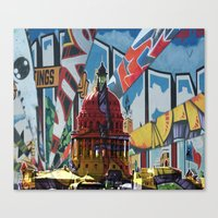 austin Canvas Prints featuring Austin by JonezuArt