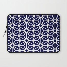 Asanoha Pattern - White on Navy Laptop Sleeve