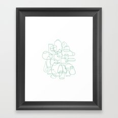 Terrarium Containers by Friztin Framed Art Print
