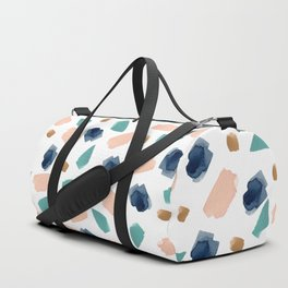 turquoise, navy, pink & gold Duffle Bag