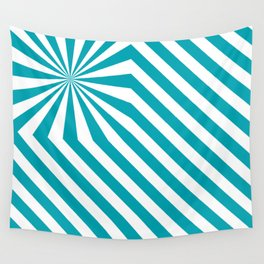 Stripes explosion - Blue Wall Tapestry
