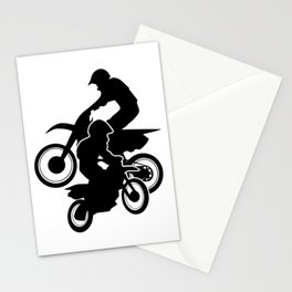 Motocross Dirt Bikes Off-road Motorcycle Racing Stationery Cards