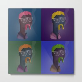 Pop Art Man Illustration Metal Print