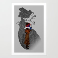 Consulting Detective Darkholme (Sherlock - Victorian - Steampunk - Mystique) Art Print