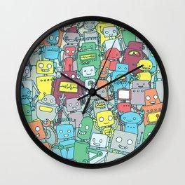 Robot Party Wall Clock