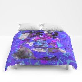 THRASHED! blue Comforters
