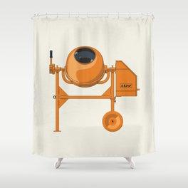 Concrete mixer Lag-130, Liv Postojna Shower Curtain